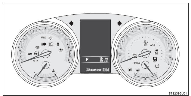 Toyota CH-R. Instrument cluster