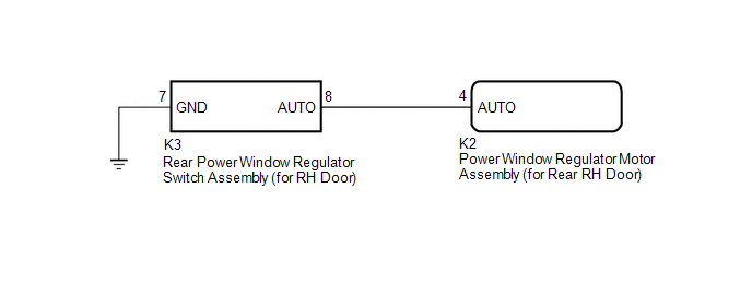 toyota ch-r service manual - rear power window rh auto up / down function  does not operate with rear power window switch rh - power window control  system