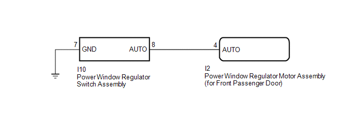 Toyota Ch R Service Manual Front Passenger Side Power Window Auto Up Down Function Does Not Operate With Front Passenger Side Power Window Switch Power Window Control System