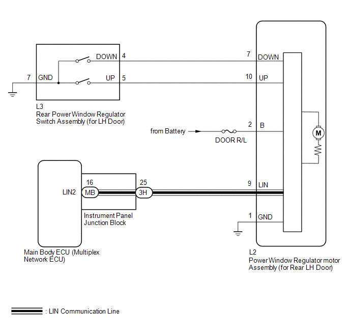 Toyota Ch R Service Manual Rear Power Window Lh Does Not Operate With Rear Power Window Switch Lh Power Window Control System