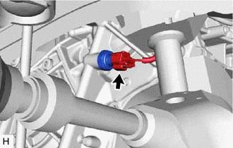Toyota CH-R Service Manual - Removal - Oil Pressure Sensor