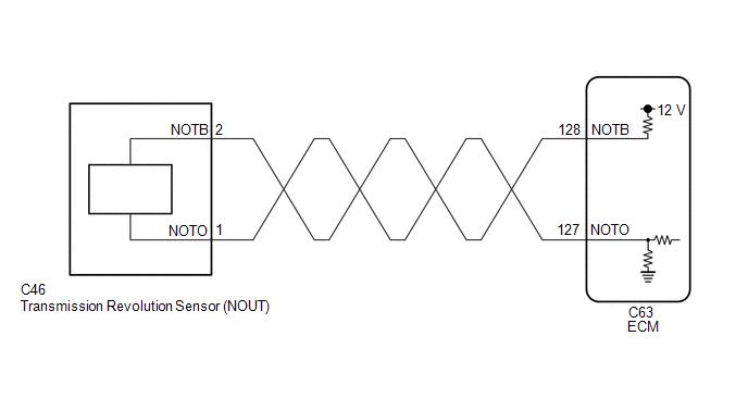 Toyota CH-R Service Manual - Output Speed Sensor Circuit No Signal