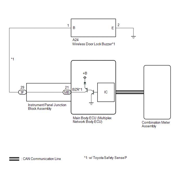 toyota ch r service manual no answer back wireless door lock rh tochr net Curciut Buzzer with Solar Map Inner Buzzer Circuit Diagram