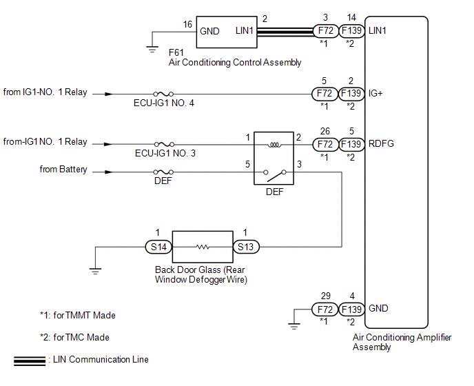 Toyota CH-R Service Manual - Rear Window Defogger System does not Operate -  Window Defogger System | Rear Defrost Wiring Diagram |  | Toyota CH-R Service Manual