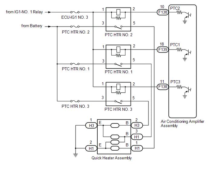 Toyota Ch-r Service Manual - Ptc Heater Circuit